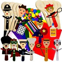 People Wooden Spoons Felt Kit Class Pack Size 10 Craft Crafts Puppets to make