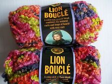 Lion Brand Lion Boucle mohair blend yarn, Gelato, lot of 2 (57 yds each)