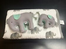 Crate and Kids Wild Excursion Elephant Baby Quilt Baby Boy Girl Nursery Grey