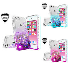 iPod Touch 5 / Touch 6 Liquid Glitter Quicksand Side Jewel Case+ScreenProtector