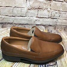 Clarks Tilden Free Mens Brown Leather Slip On Loafer Dress Shoes Size 9.5 Wide