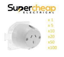 Surface Socket Plug Base 10 Amp Electrical Outlet Fan Base Surface Sockets LED