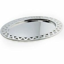 ALESSI Vassoio ovale KK24 - acciaio lucido inossidabile/tray stainless steel NEW