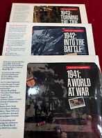 Lot of 3 USPS World War II Remembered Stamp Collections. 1941-1943.