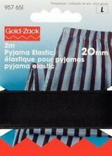 € 2,20 / m PRYM Pyjama-Elastic 20mm/ 2m schwarz Gummiband Hosengummi 957651