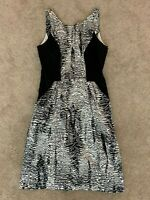 Veronika Maine Womens Black & White Dress Sheath Size 8 Lined Business Casual