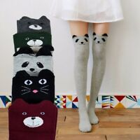 Women Kawaii 3D Lovely Cartoon Animal Thigh Stockings Over Knee High Long Socks
