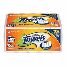 Member's Mark Super Premium 2-Ply Paper Towels 15 rolls, 150 sheets per roll New