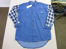 046 WOMENS NWT WRANGLER USA LOOSE FIT BLU / NAVY / WHT 3/4 SLEEVE SHIRT 10 $100.