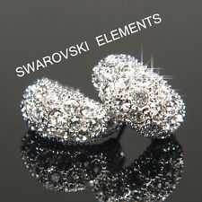 SALE 18K Prom White Gold Filled Earrings made with Swarovski Elements E405