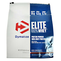 Dymatize Elite 100 % Whey Protein Powder 10 lbs, 126 Servings RICH CHOCOLATE
