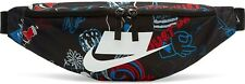 New Nike Heritage Printed Hip Pack: Black/Red/Blue Fanny Pack CQ6299-010 - NWT