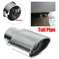 63mm 2.5'' Universal Car Stainless Steel Muffler Exhaust Outlet Tip End Tail