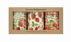 Emma Bridgewater Strawberries set of 3 storage caddies