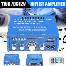 110V 600W HIFI Audio Stereo Power Amplifier bluetooth FM Radio 2CH Car    f V