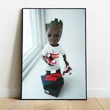 Supreme x Baby Groot / wall art poster