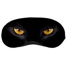 New Black Cat Eye Beautiful Big Cat Eye Printed Sleeping Mask Eye Mask Rare!