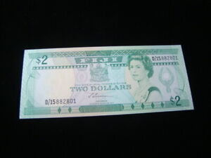 Fiji 1988 $2.00 Banknote Gem Unc. Pick #87