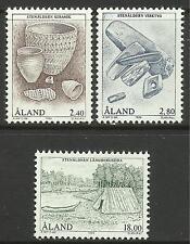 ALAND. 1994. ARCHEOLOGIA -' età della pietra Set. SG: 87/89. MINT NEVER Hinged.