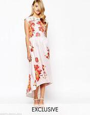 Boat Neck Floral Regular Size Maxi Dresses for Women