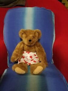 """16"""" Heart Throb Boxer Shorts Vermont Teddy Bear jointed"""