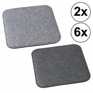 Sitzkissen Stuhlauflage Stuhlkissen Filz grau 35x35 Stuhlpolster Wendekissen Set