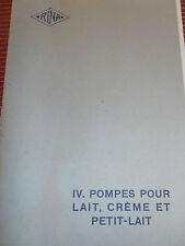 catalogue  pompe pour lait , crème petit lait - agricole  - 1916 / 1917 (ref 26)