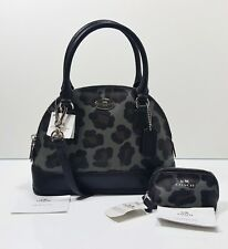 0aeb5a0759 Coach Ocelot Print Mini Cora Domed Crossbody + Coin Pouch w  Tags  330