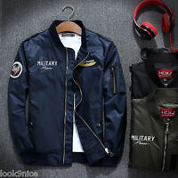 Mens MA1 Jacket thin coat Army Pilot Biker Bomber Fly Military Security outwear