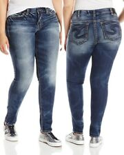Silver Suki Mid Super Skinny Jeans Plus Size 18 X 31