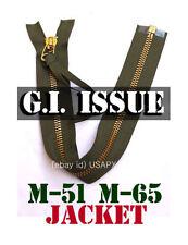 TALON MILITARY BRASS ZIPPER M-65 M-51 JACKET REPLACEMENT REPAIR ARMY SCOVILL OD