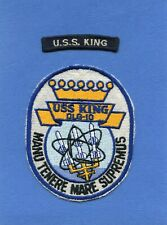 USS King DLG 10 Navy Jacket Patch with Shoulder Tab