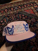 Vintage Harley Honey Harley Davidson Pink Painter Biker Hat Cap Bar Shield 80s