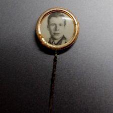 Russian Soviet Space Cosmonaut Photo Brooch Pin Badge,