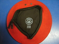 IRAQI  RED BERET SIZE 58 NEVER USED