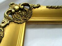 "ANTIQUE FITS 16.12"" X 20.25"" GOLD GILT ORNATE WOOD FRAME FINE ART VICTORIAN"