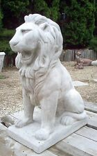 "31""  NEW Concrete Lion Statue Lawn Garden Decor **PICK UP ONLY in Illinois**"