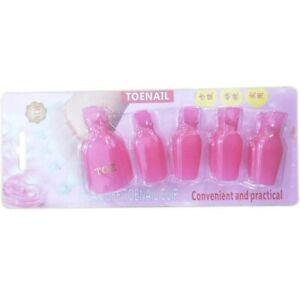 Toenail Polish Gel Remover Clip Soak Off Cap Reusable Pedicure Care Manicure Kit