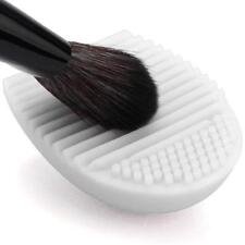 Silicone Brush Egg Hand Glove Scrubber Make up Cosmetic Brush Cleaner  White