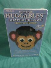 """New listing New Mcg Textiles Huggables Shaped Pillows Latch Hook Kit Monkey 36204 12""""x11"""""""