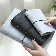 Notebook Journal Diary Binder Loose Leaf Felt Fabrics Cover Office School Supply