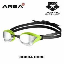 Arena Cobra Mirrored Goggles (Smoke/Silver/Green)
