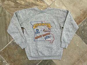 Vintage 1985 World Series Royals Cardinals Baseball Sweatshirt, Size Medium