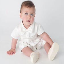 Baby Boys Christening Romper Outfit / Christening Romper Ivory