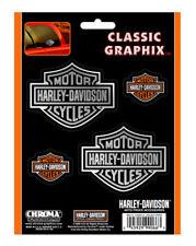 Harley-Davidson Bar & Shield 4-Piece Decal Set Stickers CG99066