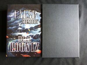 FALSE MEMORY Dean Koontz SIGNED LIMITED 1st ED SLIPCASE Cemetery Dance