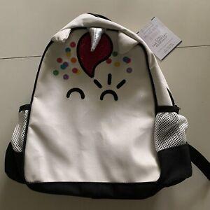 "Pottery Barn Kids Flour Shop Unicorn Backpack, White 8x3.5x8.75""-Retail $54.50"