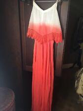 Maxi Dress Ombre Gauze with Blouson Top