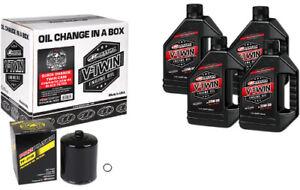 Maxima 90-119014B Black Oil Change Kit Twin Cam Synthetic 20W-50 Filter 4 quarts