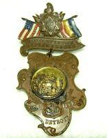Knights of Pythias 21st Convention Pin Souvenier Supreme Lodge 1900 Detroit